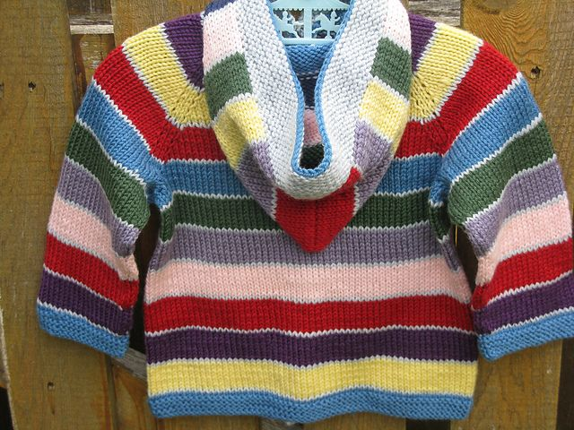 Striped Easy Baby Cardigan knit in Valley Yarns Valley ...