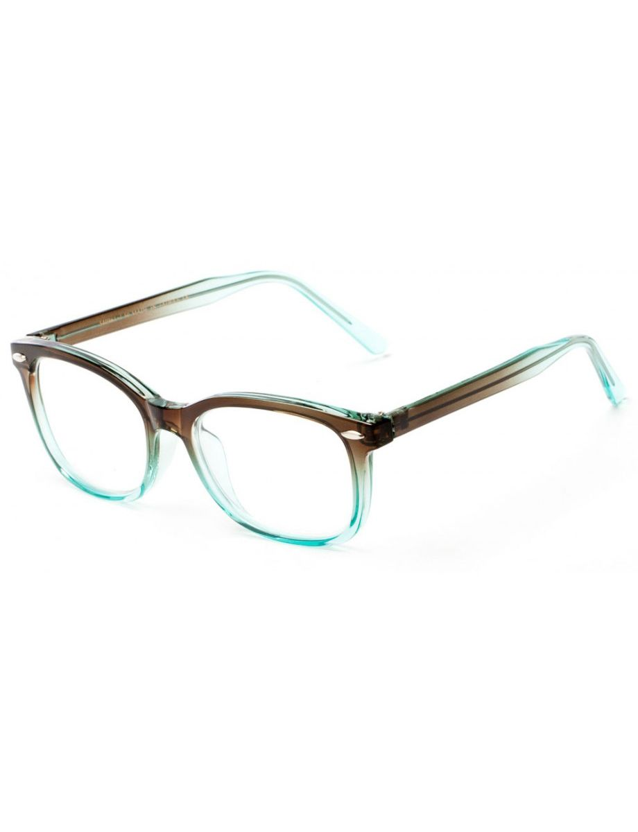 2105a79534 A beautiful blue and brown fade makes this optical quality frame a fashion  favorite. Looks expensive - - but it isn t.