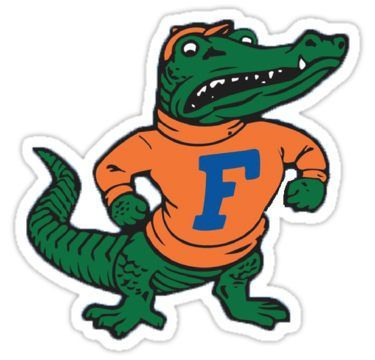 Vintage Florida Gator Stickers Florida Gators Gator Logo