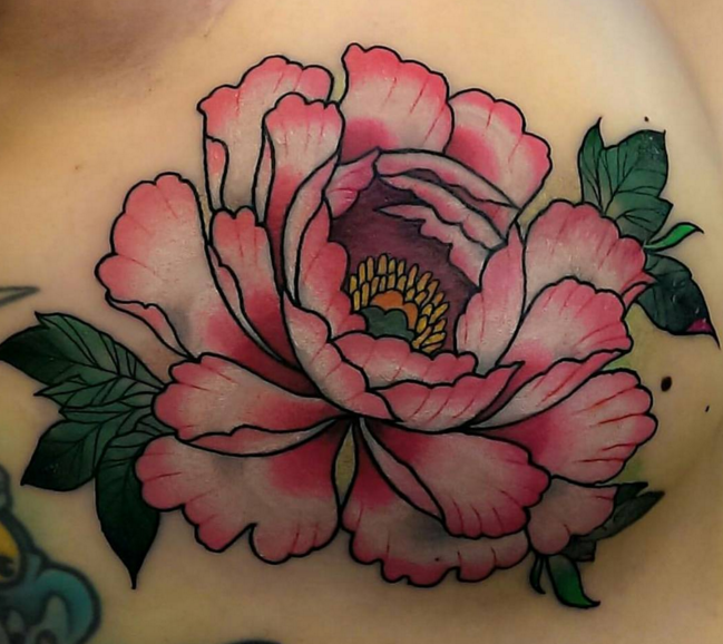 1000 Ideas About Peonies Tattoo On Pinterest: Bright Peony By Adam Sky, San Francisco (Instagram