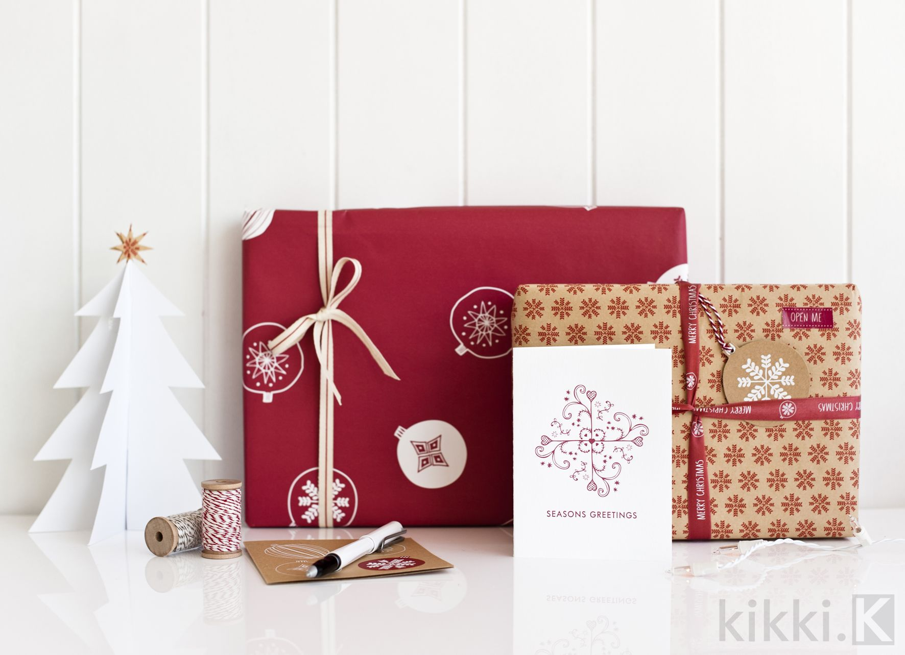 Beautiful swedish christmas inspired cards and wrappings
