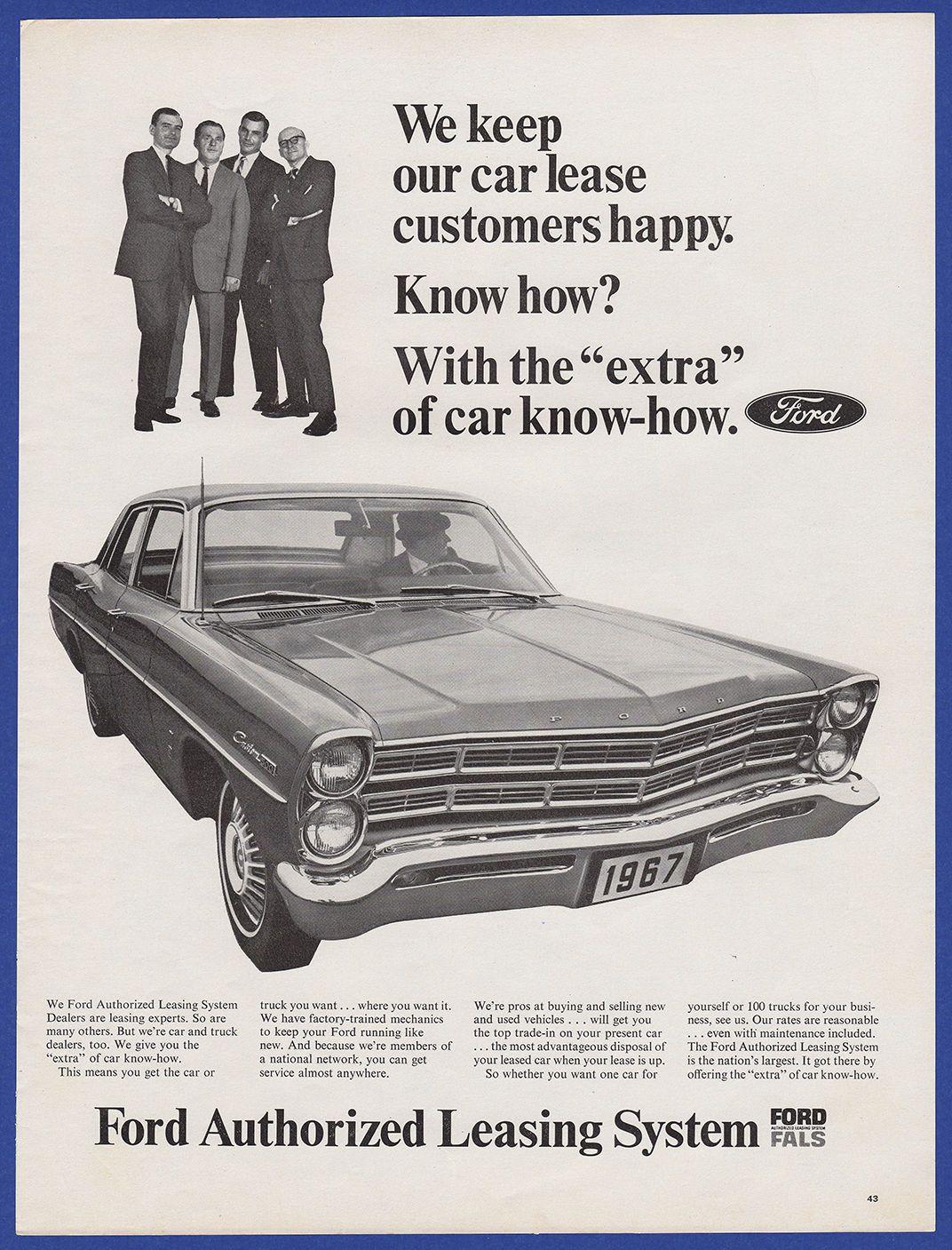 Vintage 1967 FORD Leasing System Custom 500 Car Automobile RARE ...