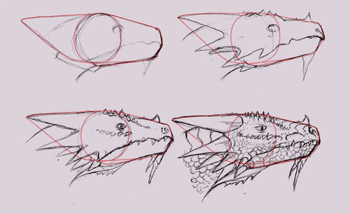 How To Draw Dragons Easy Dragon Drawings Dragon Head