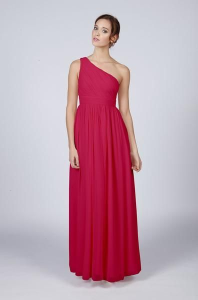 Long One Shoulder Bridesmaid Dress 163 125 00 Red Wedding