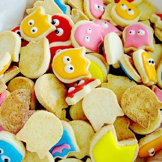 Pacman Shaped Cookies!