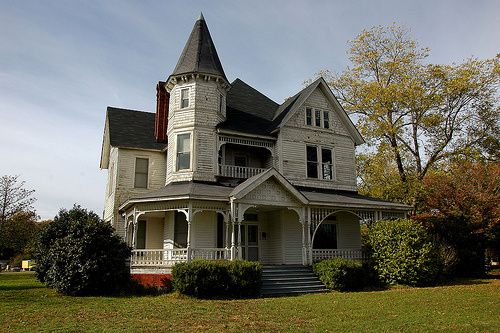High Victorian Architecture House 3 Story Turret Unadilla