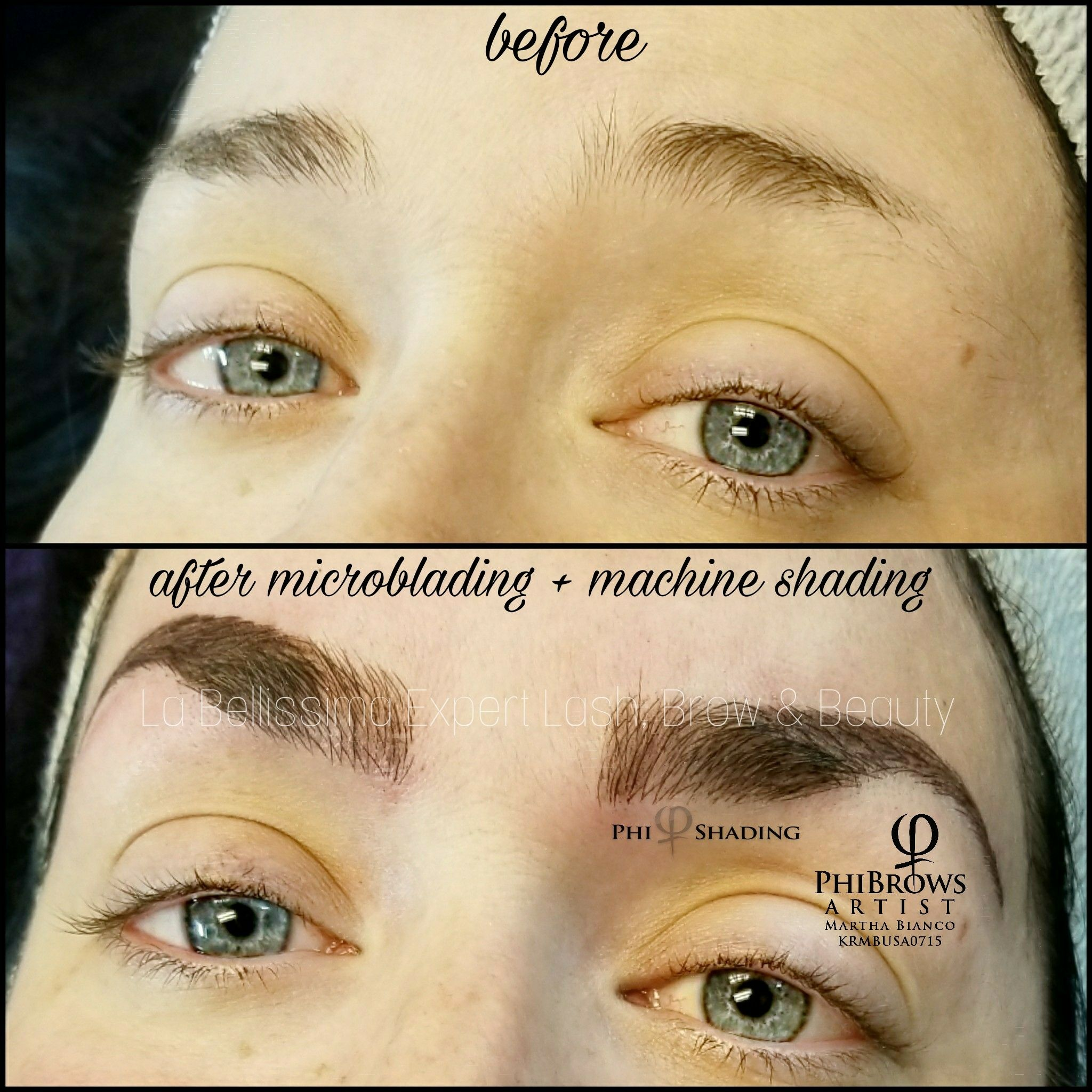 Just loving this big, bold brow with hairstrokes & machine
