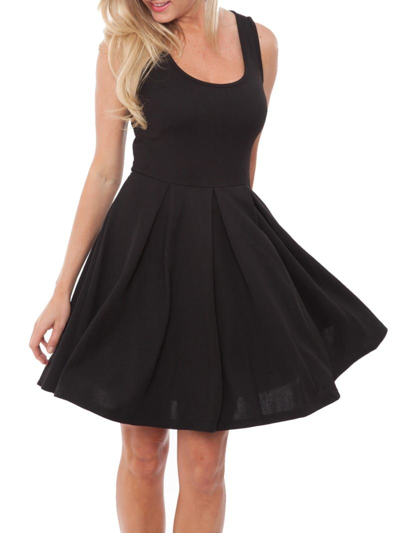 27 Little Black Dresses From Walmart You Need In Your Life Flare Mini Dress Black Dress Dresses [ 1067 x 800 Pixel ]