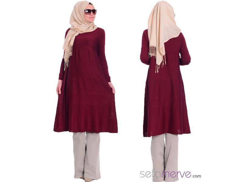 Tesettur Triko Tunik 3738 03 Bordo Sefamerve Tesetturgiyim Tesettur Hijab Tesettur Triko Modelleri 2020 Triko Moda Stilleri Ve Kiyafet