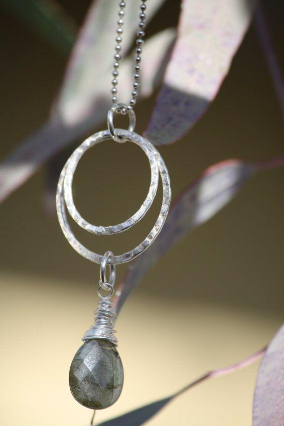 Doubl Sterling Silver Hoop Necklace by CelebratingYou on Etsy, $28.00