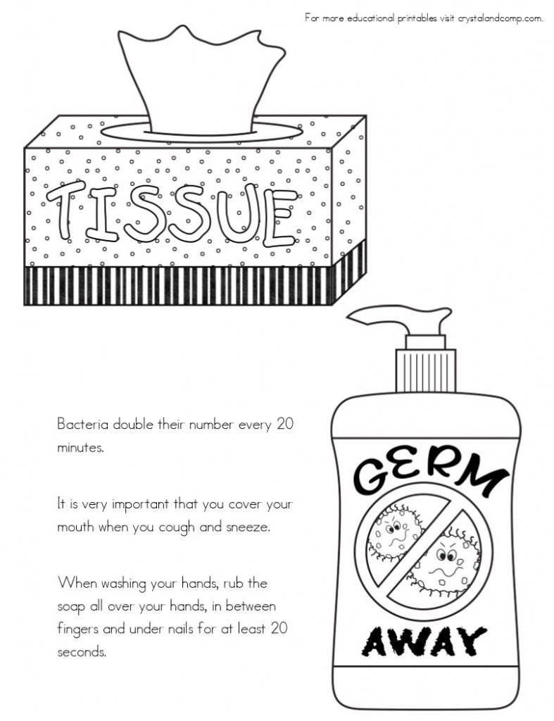No More Spreading Germs Coloring Pages For Kids Coloring For Kids Healthy Habits Kindergarten Coloring Pages For Kids