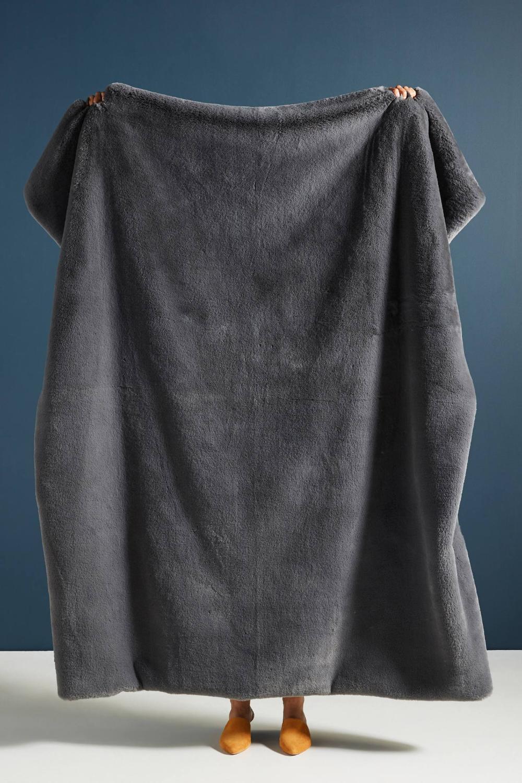 Sophie Faux Fur Throw Blanket Faux fur throw blanket
