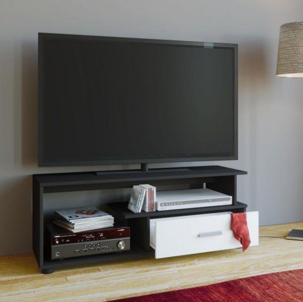 VCM TV-Lowboard Rimini Schwarz / Weiß Jetzt bestellen unter