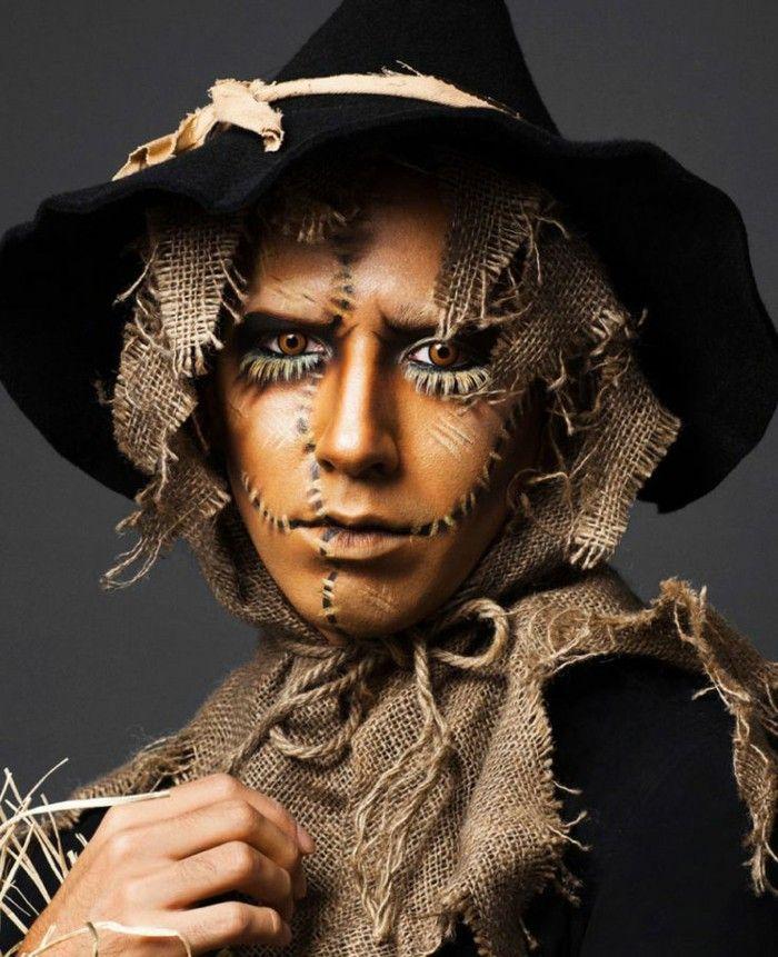 Scarecrow Halloween make-up ideas | Fantasias halloween ...