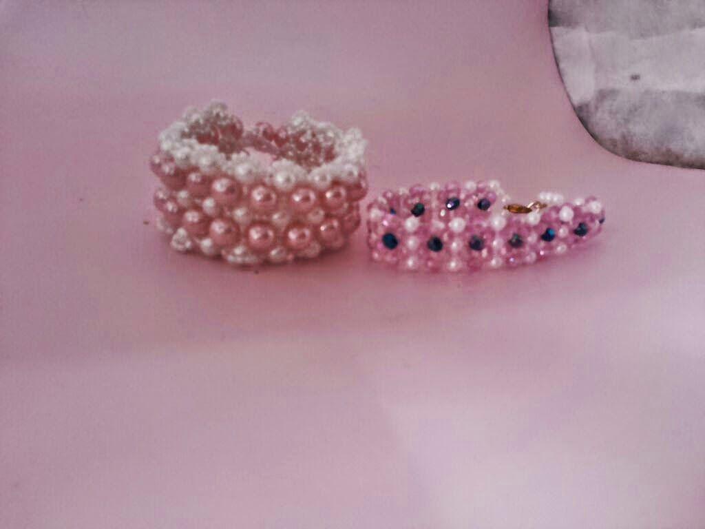 vendas  online: pulseiras de perolas e miçangas