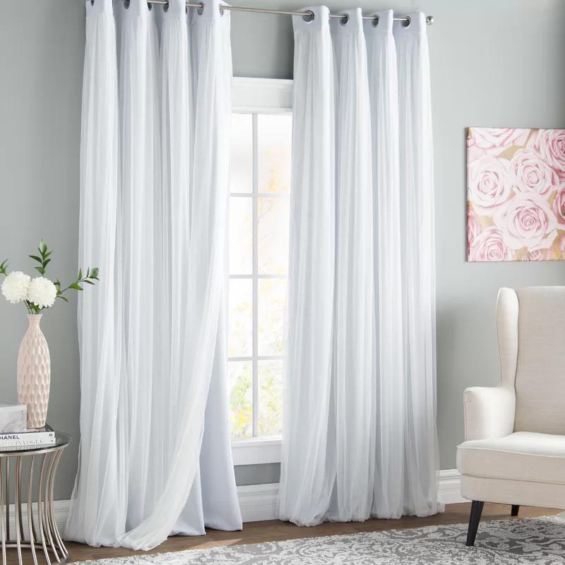 Brockham Solid Room Darkening Grommet Curtain Panels In 2020 Panel Curtains Colorful Curtains Grommet Curtains