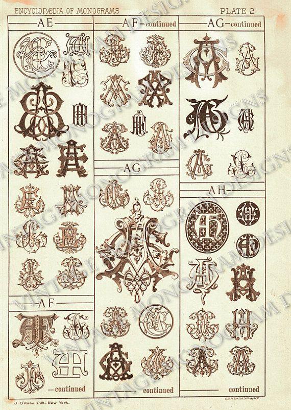 Image Result For Encyclopedia Of Monograms Monogramma Inicialy Kalligraficheskij Alfavit