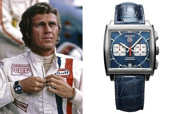 A Watch Seen On The Wrist Of Steve Mcqueen In The Film Quot Le