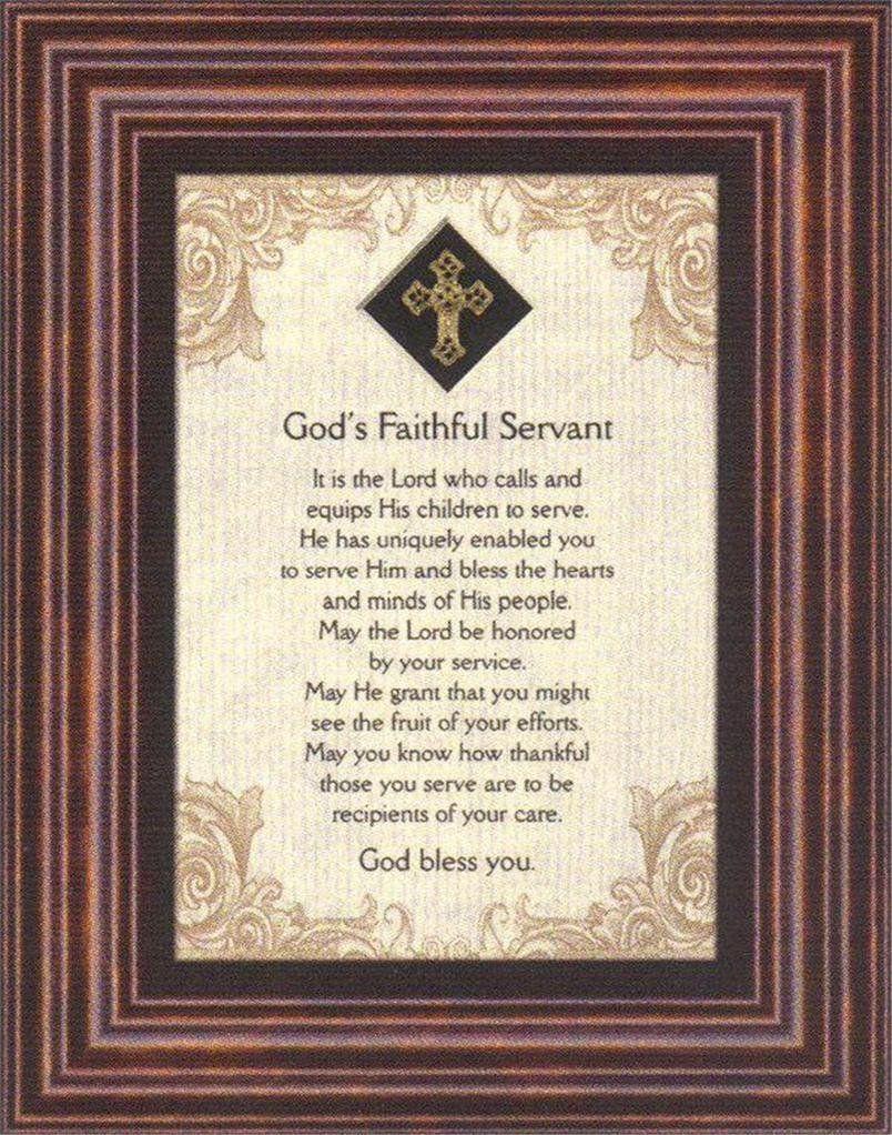 Amazon.com - God's Faithful Servant Heartfelt Pastor's ...