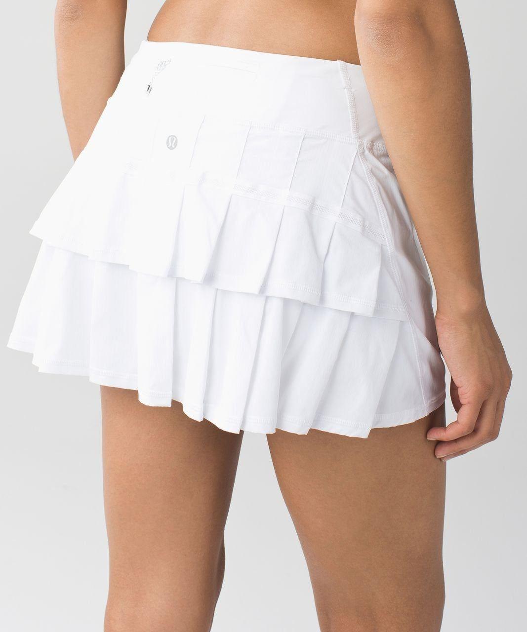 Lululemon Pace Setter Skirt White On Mercari Lululemon Outfits Tennis Skirt Outfit Lululemon Skirt