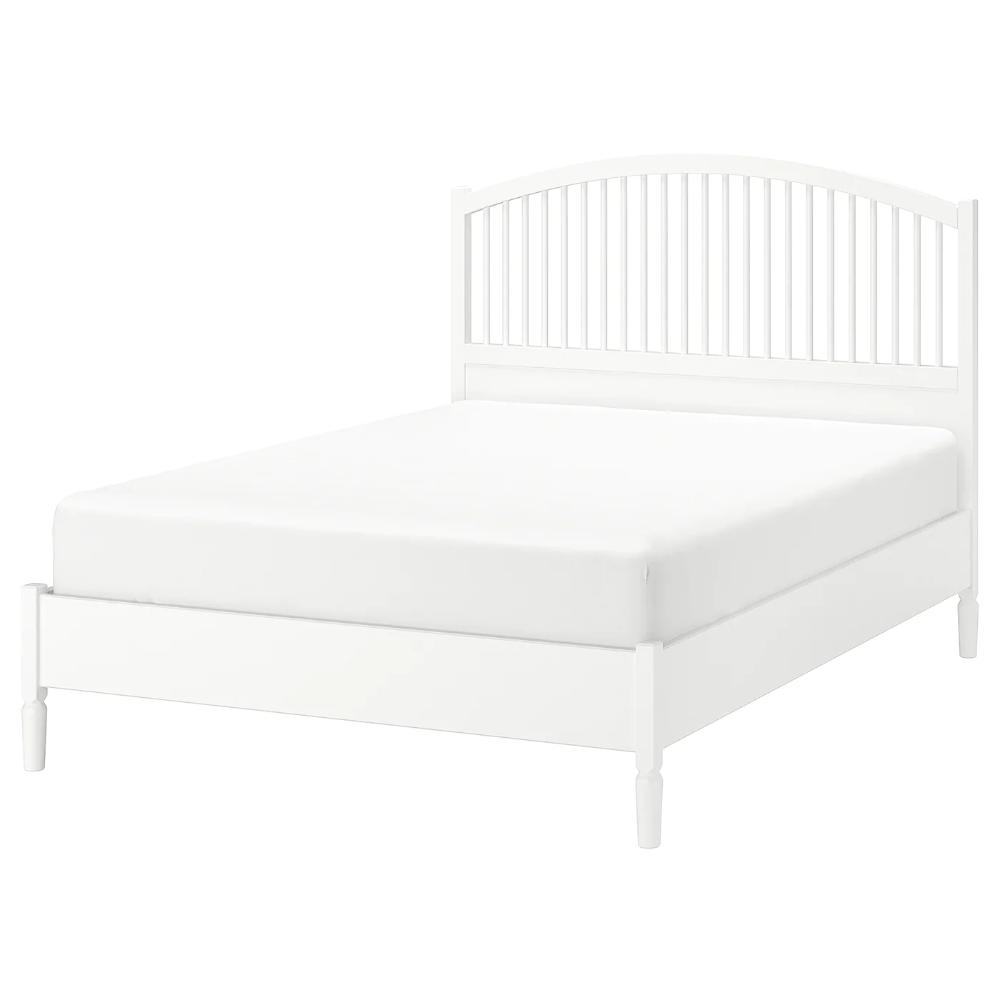 TYSSEDAL Bed frame, white, Luröy, King IKEA in 2020