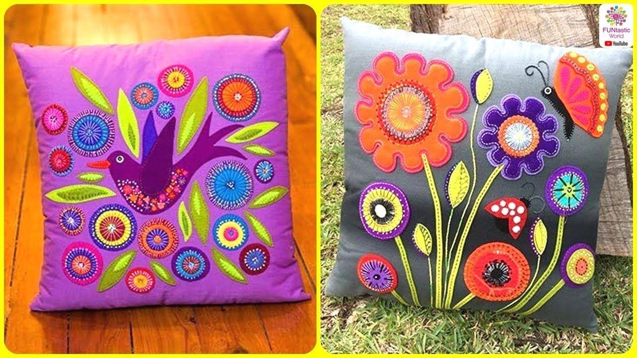 Beautiful applique cushion cover designs applic pillow design