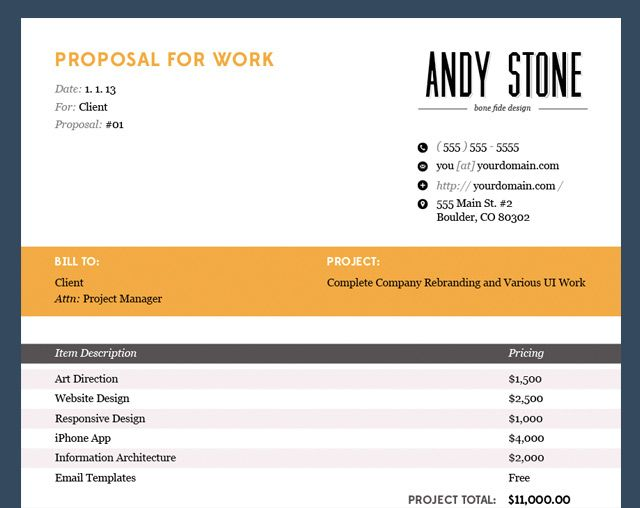 andyis wp-content uploads 2013 08 proposal-design-template - Pdf Invoice Creator