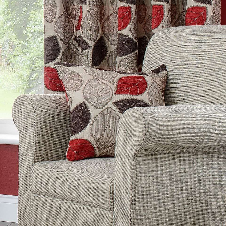 Red And Grey Curtains Dunelm: Red Sherwood Lined Eyelet Curtains
