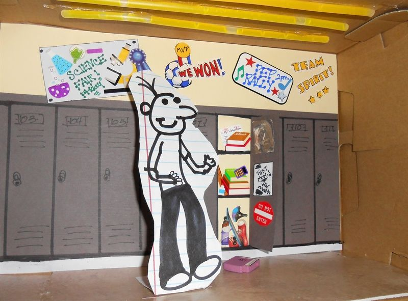 Diary of a wimpy kid the last straw diorama please for Diary of a wimpy kid crafts