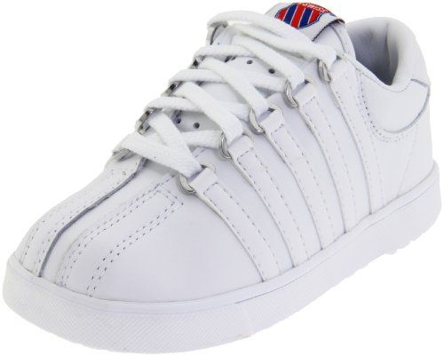K-Swiss Classic Leather Tennis Shoe (Infant/Toddler),White,2. Baby Boy ...