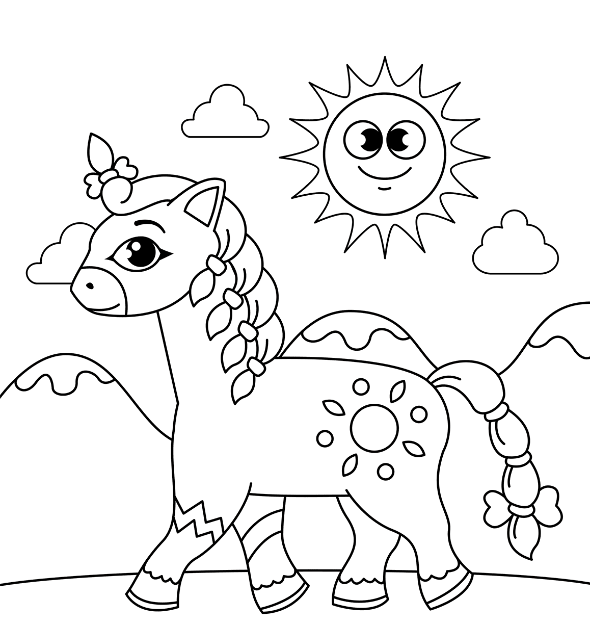 Free Printable Horse Coloring Pages (With images)   Animal ...