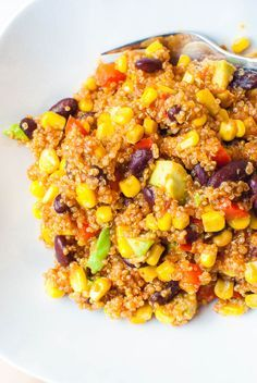 Photo of Mexican quinoa pan with avocado