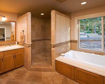 Corner Doorless Shower Design Ideas, Pictures, Remodel and Decor ...