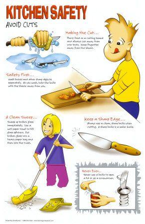 Kitchen Safety: Avoid Cuts | Kids! - Creative Cooking | Pinterest ...
