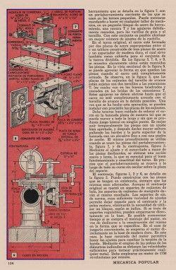 TORNO DE MECANICO HECHO CON PIEZAS CORRIENTES ABRIL 1959 004A copia