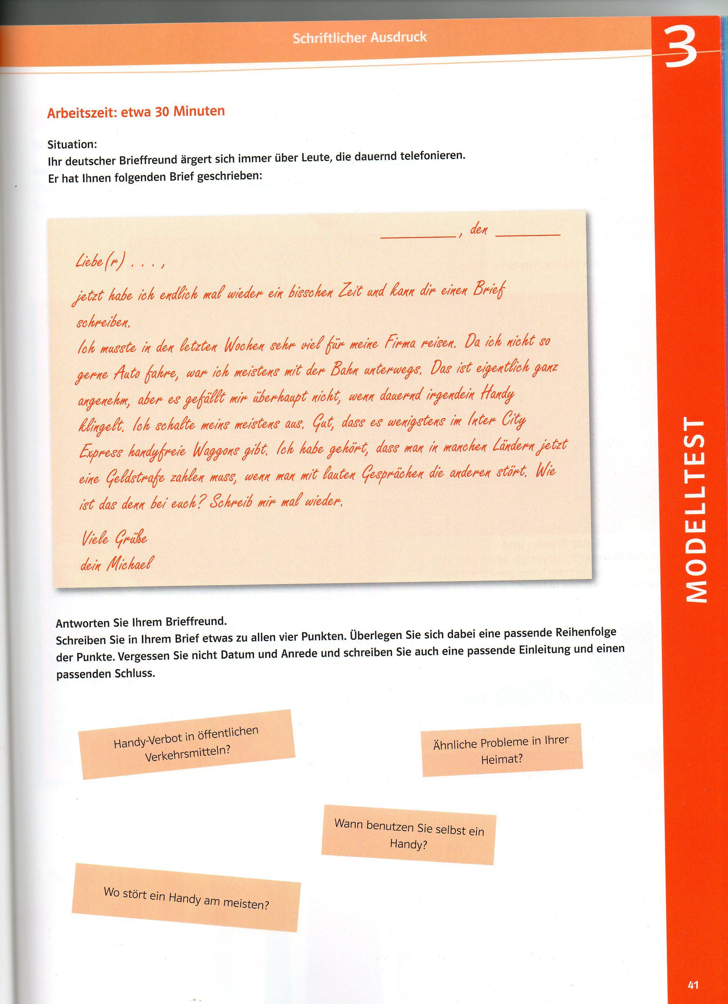 Briefe Schreiben A2 Beispiele : S schreiben klett b g deutsch