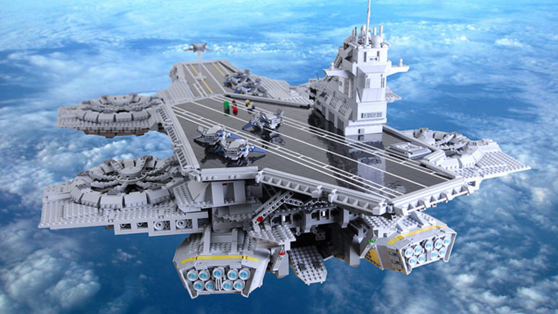 Custom Lego Helicarrier Is Twice As Big As The Official Set Shield Helicarrier Lego Lego Brick
