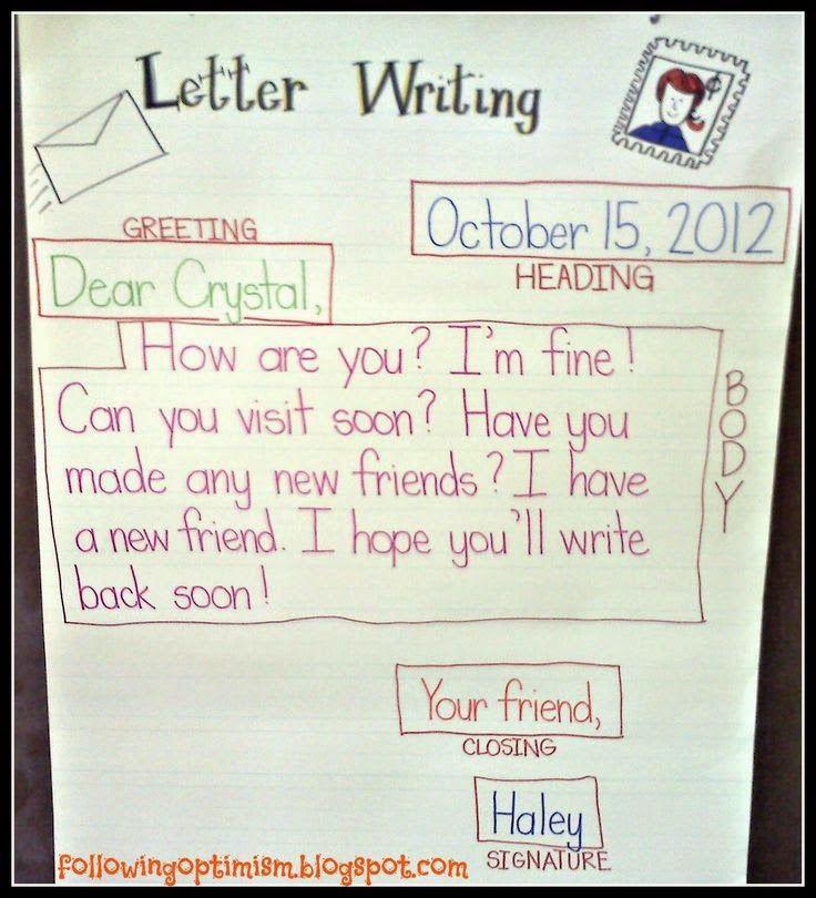 Friendly Letter Writing Letter Writing 3rd Grade Pinterest