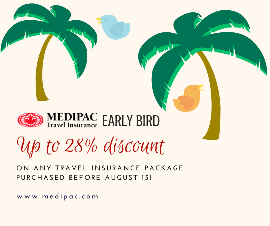 Only 23 days left before Medipac's Early Bird Travel ...