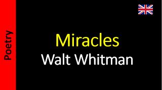 Thought - Walt Whitman