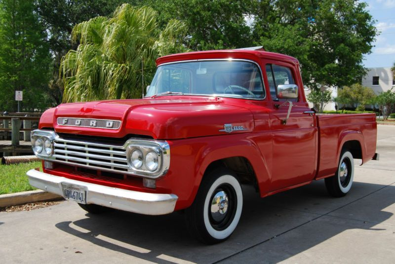 1959 Ford F 100 Ford F 100 Custom Cab Pick Up Florida Truck Great