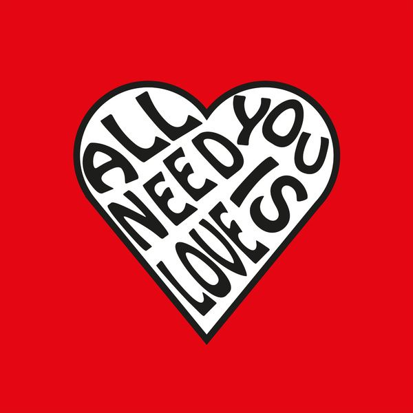 All You Need Is Love The Beatles Art Print From Society6 By