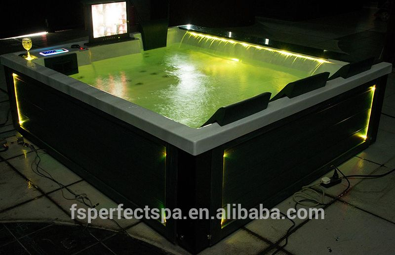 Hot Sale! Portable Spa Hot Tub Outdoor Spa With Big Waterfall ...