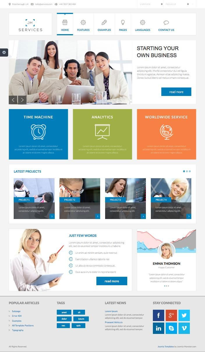 Jm services joomla free business template premium joomla templates jm services joomla free business template wajeb Image collections