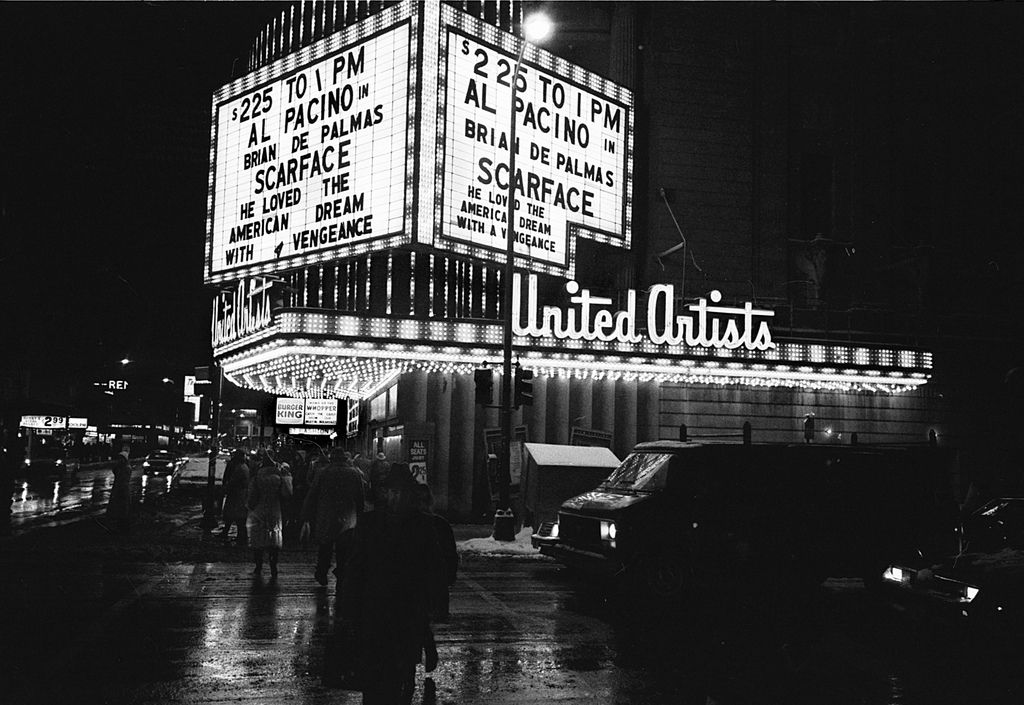 1980s. United Artists Theatre. Randolph and Dearborn