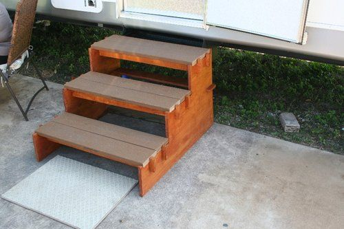 Best Simple Portable Rv Stairs So Easy A 84 Year Old Man Can Do It Camper Steps Wooden Steps 640 x 480