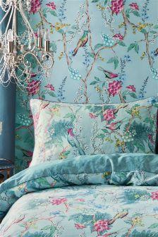Blue Birds Wallpaper Bird Wallpaper Bedroom Wallpaper Bedroom Shabby Chic Furniture Diy