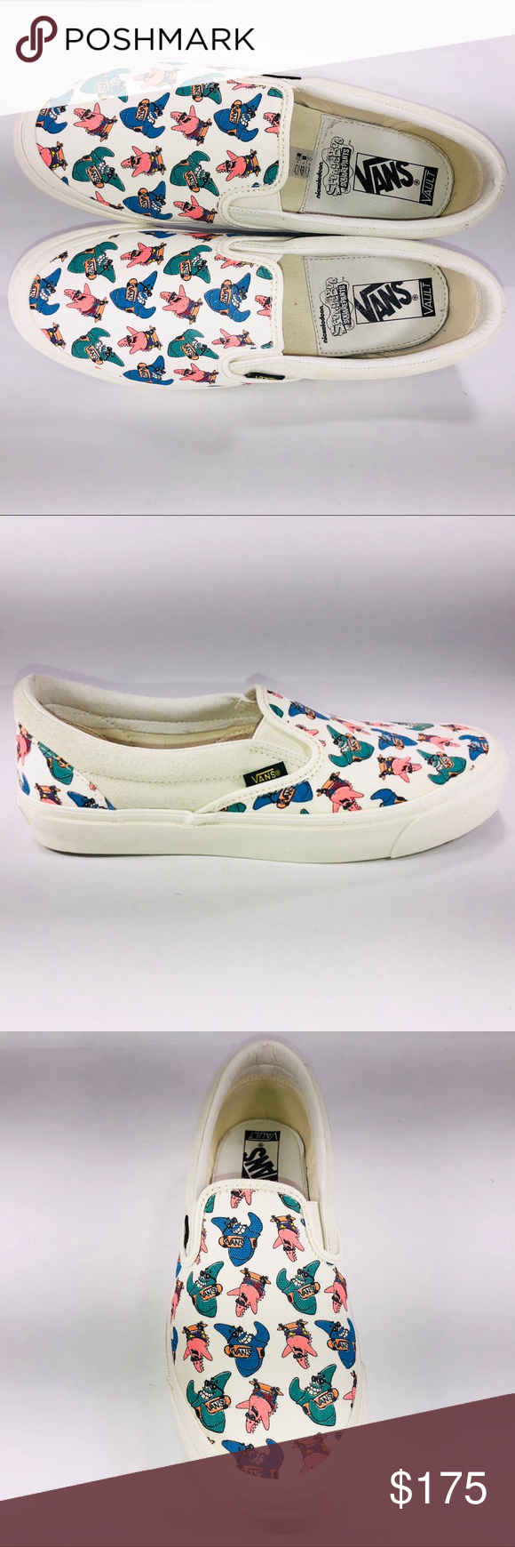 VANS Vault OG Classic Slip On Spongebob Patrick Multicolored Sneakers Mens  Size VN000UDFQM1 Vans Shoes Sneakers 3ba069ed70