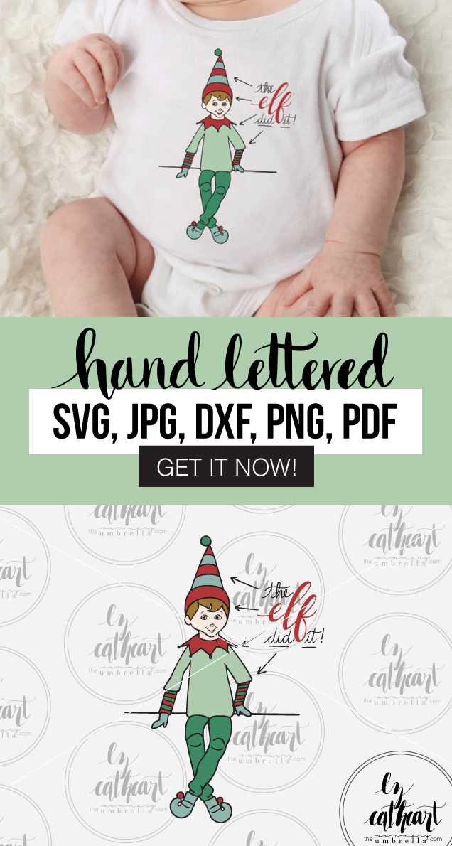 Elf on the Shelf SVG and Printable Make your own sign