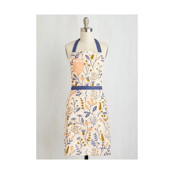 Darling Sticks and Scones Apron (10.935 HUF) ❤ liked on Polyvore featuring home, kitchen & dining, aprons, kitchen, kitchen textile, multi and pocket apron